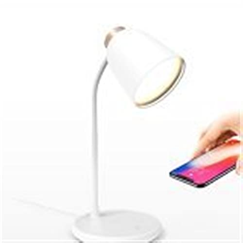 KaiLangDe Lámpara Escritorio LED con Carga Inalámbrica Wireless y Puerto Flexo de Lectura con 3 Modos y Control Táctil Regulable y Temporizador Bajo Consumo
