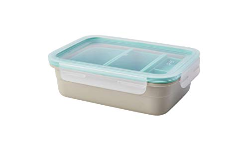 IKEA 365+ Rectangular Beige Lunch Box with Compartment Containers (34 oz)