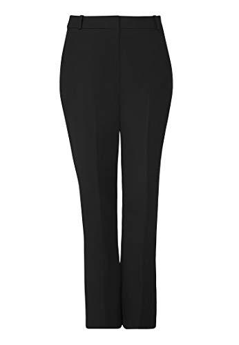 HALLHUBER Business-Hose mit Bügelfalte schmal geschnitten schwarz, 40