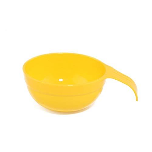 GXDMMW outils de masque de beauté masque de bricolage bol en plastique avec un film de réglage de la poignée alginique bol en poudre douce dédiée (Size : Yellow)