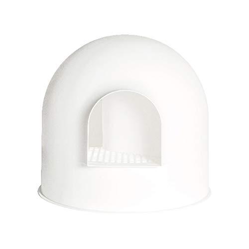 LT Lettiera for Gatti con Coperchio Grande Toilette con Cappuccio Snow House Igloo Solide e Design Resistente Antiaderente Facile da Pulire (Color : A)