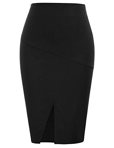 Womens Front Split Pencil Skirts for Ladies