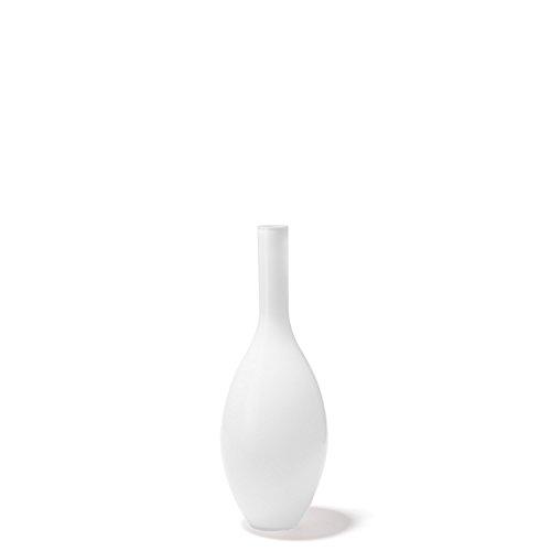 Leonardo Beauty Blumen-Vase, handgefertigte Deko-Vase, bauchige Tisch-Vase aus weiß durchgefärbtem Glas, Höhe: 390 mm, 060767
