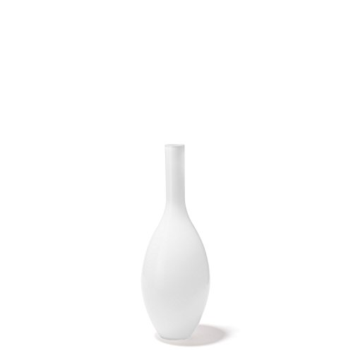 Leonardo Vase Beauty, bauchige Deko-Vase, handgefertigtes Unikat, Blumen-Vase aus weiß durchgefärbtem Glas, 39 cm, 060767