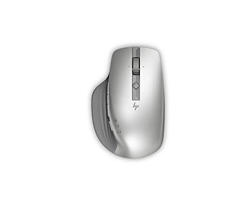 HP - PC Creator 930M - Ratón inalámbrico, 7 Botones programables, Rueda de Desplazamiento hiperrápido, Receptor USB Bluetooth Incluido, Sensor Track-on-Glass, Plateado