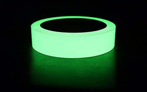Euro ® Glow in The Dark Tape Night Glow Radium Sticker 01 Inches x 3 Meters (Pack Of 01)