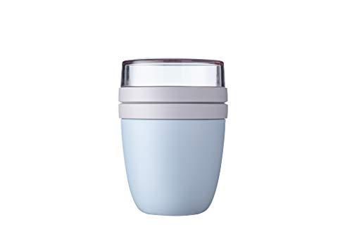 Mepal Lunchpot Ellipse Nordic Blue – 500 ml praktischer Müslibecher, Joghurtbecher, to go Becher – Geeignet für Tiefkühler, Mikrowelle und Spülmaschine, Polypropyleen, 700 ml