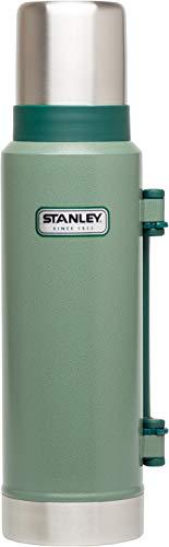 Stanley Legendary Classic Vakuum-Thermoskanne, 1.3 Liter, Hammertone Green, 18/8 Stainless Edelstahl, Integrierter Thermobecher, Doppelwandige Isolierung Isolierflasche Isolierkanne Kaffeekanne