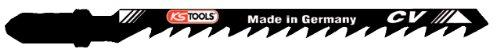 KS Tools 129.3105 - Hoja de sierra de calar para AEG, Bosch y Metabo (corte curvado, 100 x 4 mm, T244D, 5 unidades)