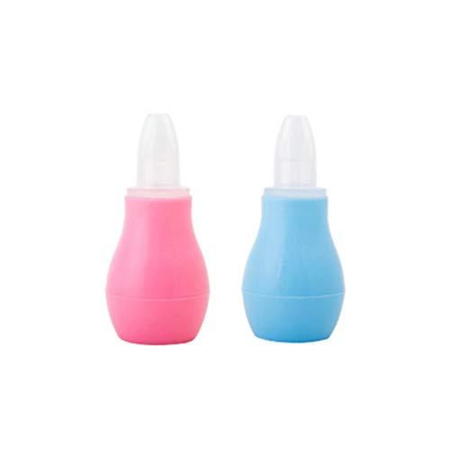 Artibetter 2 Stücke Baby Nasensauger Nasenreiniger Ohr Spritze Lampenspritze Nasal Snot Sucker Entferner für Neugeborene Baby Kleinkinder