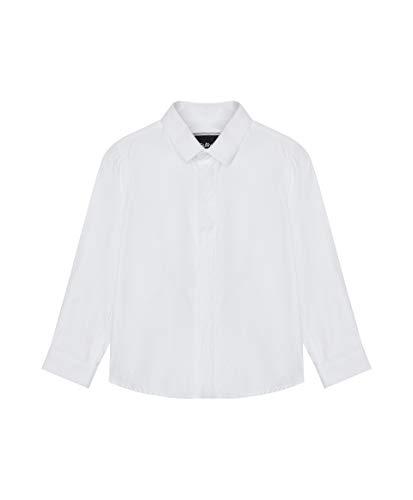 GULLIVER Camisa de Fiesta Manga Larga para Bebé Niño Color Blanco con Cuello, Algodón, Party Shirt para 9-24 Meses