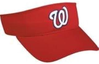 ca319bf70e8df6 Washington Nationals Officially Licensed MLB Adjustable Velcro Adult Visor