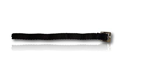 Pferdelinis Correas para espuelas en negro, 2 unidades para esporas, correas de repuesto, tamaño ajustable para una perfecta fijación de esporas de todo tipo.