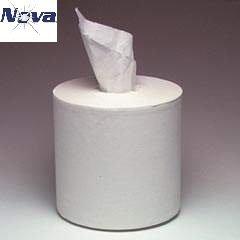 Nova White Center Pull Towel 2ply 600 sheets 6 rolls per case