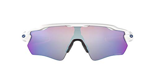 Oakley Men's OO9208 Radar EV Path Shield Sunglasses, Polished White/Prizm Snow Sapphire, 38 mm
