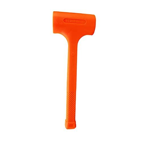 DERCLIVE Martillo de goma resistente moldeado de chispa y rebote del unibody del martillo del golpe para la carpintería
