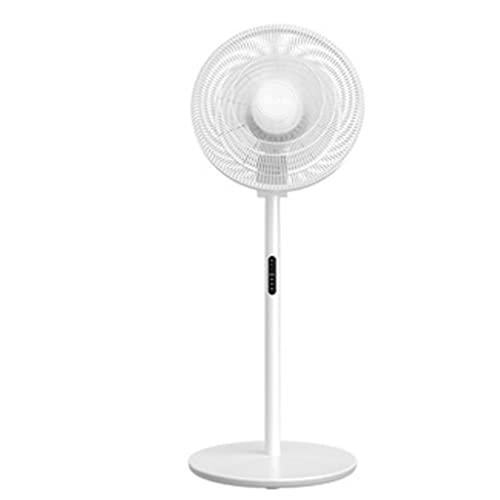 YYDS Ventilador de Pedestal con Control Remoto y Pantalla LED 90 ° Oscilating Stand Up Fan 3 Velocidad y 7 Cuchillas para la Sala de Estar de la Oficina en el hogar (Color : White)