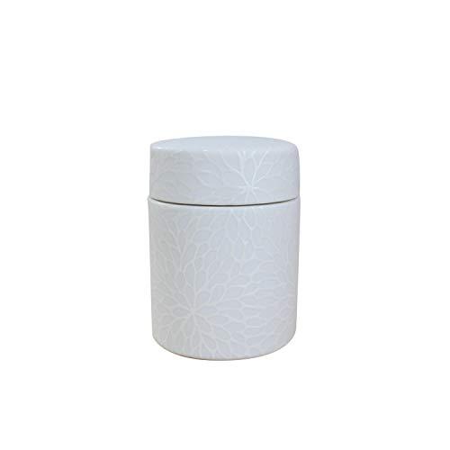 骨壷 和織 ネジ式 陶器製 ミニ骨壺 1.7寸 分骨 遺骨入れ メモリアル (花菊)