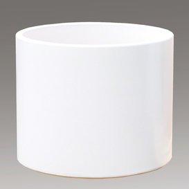 98619740 Pot » rivus Blanc « rond en grès blanc