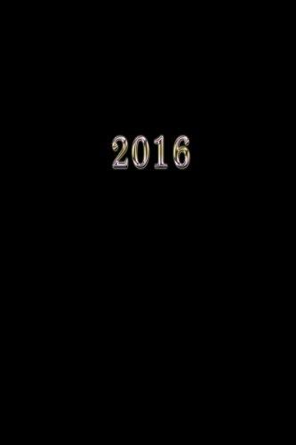 2016: Kalender/Terminplaner 1 Woche auf 2 Seiten, Format ca. A5, Cover schwarz