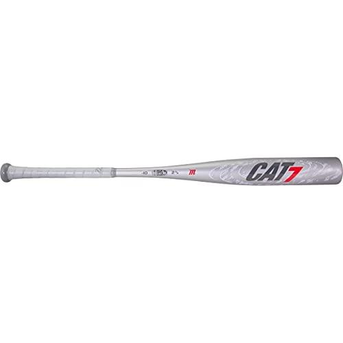 """Marucci CAT7 Silver -10 USSSA Senior League Baseball Bat, 2 3/4"""" Barrel, 31""""/ 21 oz"""