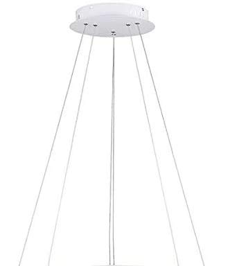 DERALAN Modern Chandelier Lighting Dimmable LED Ceiling Dining Room Chandeliers Contemporary Living Room Light Fixtures Hanging 3 Ring Foyer Bedroom Pendant Lights Cool White White