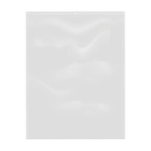 100 bolsas de plástico con cierre de cremallera transparente (35 x 45 cm)