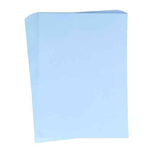 NUOBESTY 100 Hojas A4 Papel de impresión Papeles para Escribir a máquina Manual Papel Artesanal para Papel para oficios de Oficina Escolar Impresora de inyección de Tinta (Azul Cielo)