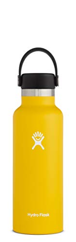 Hydro Flask Water Bottle - Standard Mouth Flex Lid - 24 oz, Sunflower