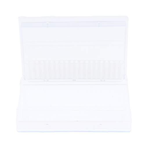 SDENSHI Plat de Rangement Attachement des Embout de Ponceuse Manucure Outil - Clair 9,8 x 6,5 cm