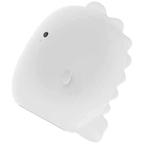 SOLUSTRE Silikon dinosaurie nattlampa säng guidad nattlampa tvättväska USB-laddningslampa dekorativ lampa prydnad för barn flickor rum barnrum
