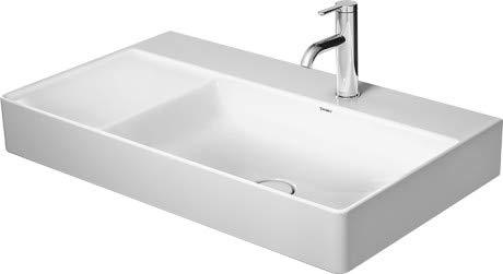 Duravit Waschtisch DuraSquare 800m Weiß, 3 Hahnlöcher, Becken rechts, WG, 23498000441
