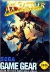 AX Battler A legend of golden axe - Game Gear - US