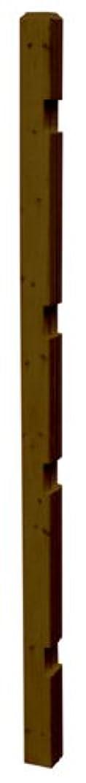 冊子バッテリー干し草ボーダーフェンス用ポール (ハイタイプ?ストレート連結) 1本 高さ176cm ダークブラウン JSBP-1760DBR