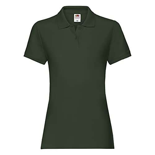 Fruit of the Loom Damen Premium Polo Lady-fit Poloshirt, Größe:XL, Farbe:flaschengrün