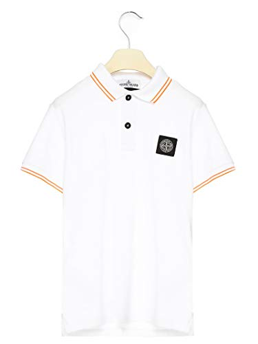 Stone Island Luxury Fashion Junge 721621348V2001 Weiss Baumwolle Poloshirt | Frühling Sommer 20