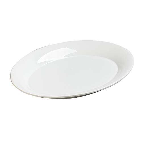 Table Passion - Plat ovale etna blanc 40 x 30 cm