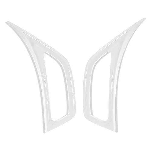 CKPEOR ABS Aire Acondicionado Puerto de Escape Pegatina Decorativa para Cubierta Decorativa para Jeep Wrangler JL JLU 2018-2021 y Jeep Gladiator JT 2020, 2 Piezas,Blanco