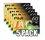 Fuji Magnetics DVC 60 DV Mini Digital Video, 5er Pack
