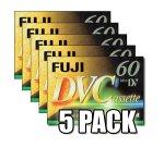 Fujifilm DVC - Mini DV (60 min, 5 Unidades)