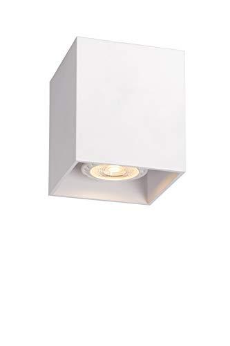 Lucide 09101/01/31 Bodi - Lámpara de techo cuadrada (GU 10, 8 x 9,5 cm), color blanco