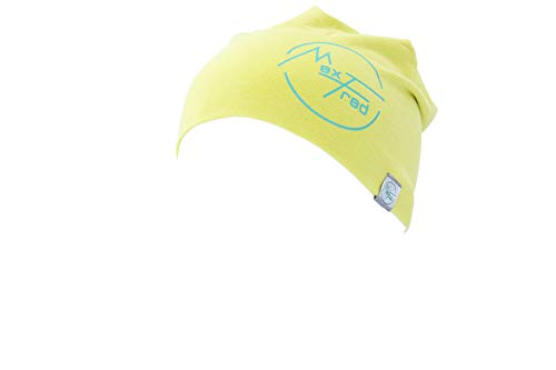 MaxFred Beanie Bamboo Cap Capuchon Homme, Jaune, Taille Unique