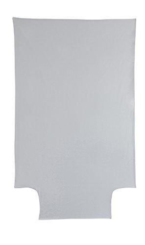 P'tit Basile - Housse de couette bébé Coton Bio - 100x140 cm - Coloris Gris perle - été ou hiver - Coton certifié Oekotex et Gots de qualité supérieure, Tissage serré pour plus de douceur