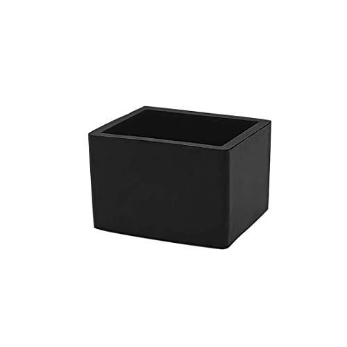 Flyshop Chair Leg Caps, Rubber Protective Caps, Durable, Non-slip, Rectangle 25 * 38mm, 8pcs, Black