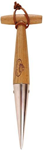 Esschert Design Setzholz, Pflanzholz mit Holzgriff, ca. 10 cm x 3,6 cm x 30 cm