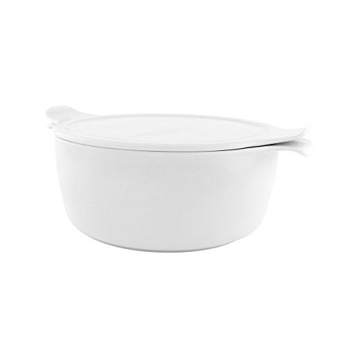 ESCHENBACH Olla Cook & Serve, Tapa, de Porcelana, 2Unidades, Porcelana, Weiss, 24...