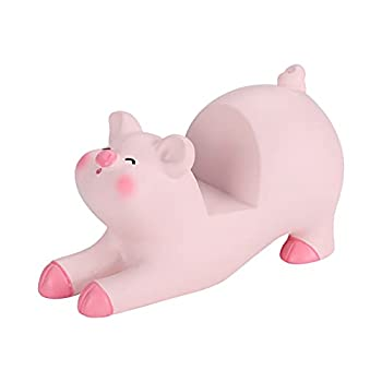 Seninda Cute Phone Holder Lovely Pink Pig Cellphone Stand Desk Business Cards Holder Glasses Holder Desktop Accessories Office Decor  Shape A