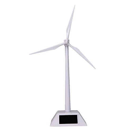 Junecat Desktop-Windturbine Modell solarbetriebene Windmühlen ABS Kunststoff Weiß Home Office Dekoration