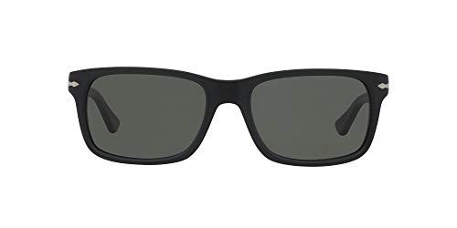 Persol Unisex Classics Sonnenbrille, Schwarz (Gestell: Black Antique Glas: Crystal Polar Green 900058), Large (Herstellergröße: 58)
