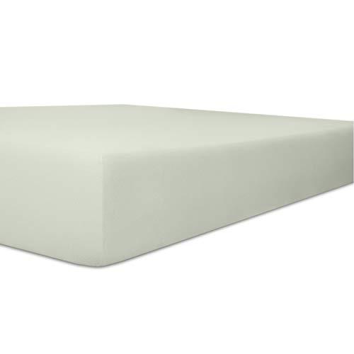 Kneer Qualität 22 Vario-Stretch Topper-Spannbetttuch 140x200x4-12 cm 11 hellgrau